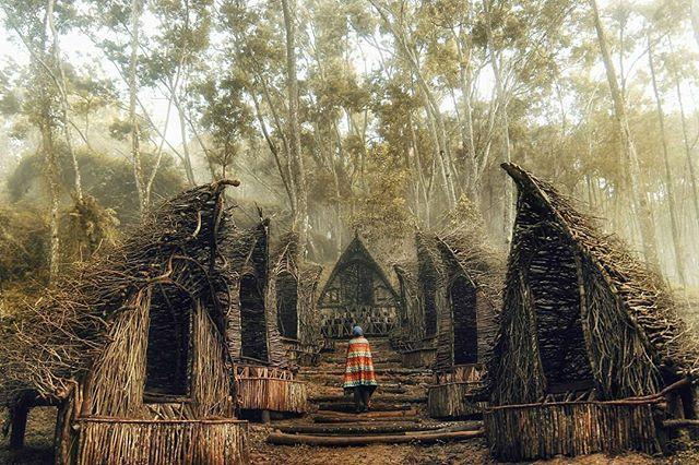 Spot Rumah Indian di Seribu batu Songgo Langit